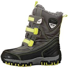 Kappa BEN Tex TEENS, Unisex-Kinder Kurzschaft Stiefel, Grau (1633 grey/lime), 39 EU (6 Kinder UK)
