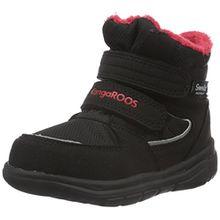 KangaROOS Unisex-Kinder Sympa in 2108 B Schneestiefel, Schwarz (Black/Flame Red 529), 28 EU