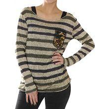 KEY Largo Damen Shirt Jessy Sand , Grösse:XL;Farbe:Khaki