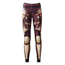 Insanity Clothing Damen Leggings Braun Braun Small Gr. Medium, Braun