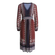 Midi-Kleid mit Bohoprint