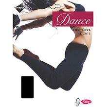 Silky Erwachsene Damen Tanz Strumpfhose Fußlos - Schwarz, Age 11-13
