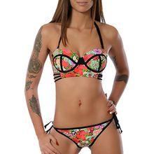 Damen Push-Up Bikini-Set (weitere Farben) No 13771, Farbe:Lachs;Größe:34 / XS
