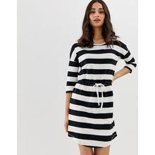 Only - May - Gestreiftes Kleid mit Tunnelzug - Mehrfarbig
