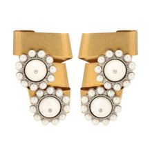 Verzierte Ohrringe aus Messing
