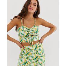 Glamorous - Camisole mit Bananen-Print - Gelb