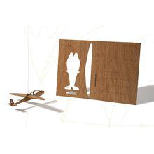 formes Berlin Segelflieger-Karte - 6 Postkarten aus Holz