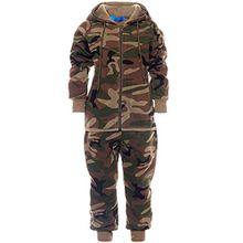 Kinder Jogginganzug Junge Hoodie Pullover Kapuzenpullover Hose Sportanzug 21737, Farbe:Braun, Größe:164