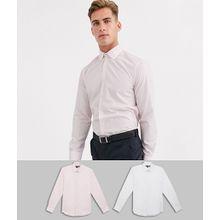 French Connection – 2er-Set schmale Hemden-Weiß