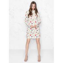 Deep-V Open Back Dress - White