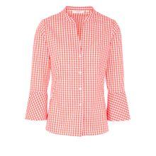 ETERNA Bluse orangerot / weiß