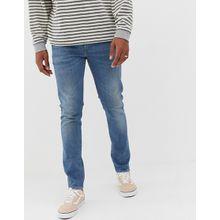 """Levi's 512 - Schmal zulaufende Jeans in schlanker Passform mit niedrigem Bund und heller """"4 Leaf Glover""""-Waschung - Blau"""