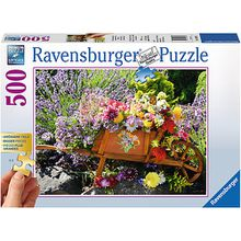 Puzzle 500 Teile, 61x46 cm, Gold Edition: größere Teile, Blumenarrangement