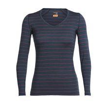 Icebreaker Shirt Oasis LS V Langarmshirts dunkelbraun Damen