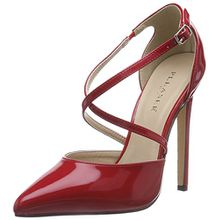 Pleaser Devious SEXY-26, Damen Knöchelriemchen Pumps, Rot (Red Pat), 43 EU (10 Damen UK)