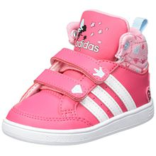 adidas Unisex Baby Hoops CMF Mid Sneaker, Mehrfarbig (Supros/Ftwbla/Rossua), 22 EU
