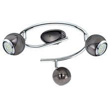 EGLO 31007 Deckenspirale, Metall, GU10, schwarz