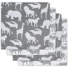 Mullwindeln Safari 4er Set, hydrophil, grau, 70 x 70 cm
