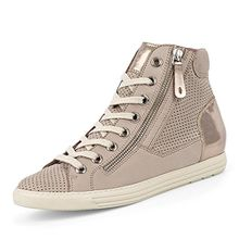 Paul Green 4247-162 Damen Sneaker aus Nubukleder Lederfutter und -Innensohle, Groesse 5 1/2, Beige