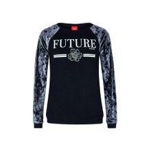 S.Oliver Junior Sweatshirt nachtblau / taubenblau / weiß