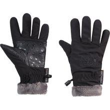 JACK WOLFSKIN Handschuhe 'HIGHLOFT' grau / schwarz