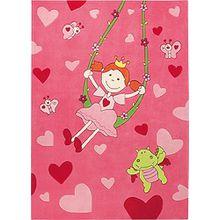 """Sigikid Marken Kinder Teppich, kuschelig und hochwertig für Prinzessinnen """"Pinky Queeny"""" (170 x 240 cm)"""