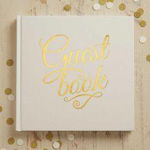 "Gästebuch ""Guest Book"" creme/ gold"