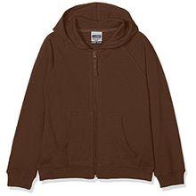 James & Nicholson Jungen Sweatshirt Hooded Jacket Junior, Gr. X-Large (Herstellergröße: XL (146/152)), Braun