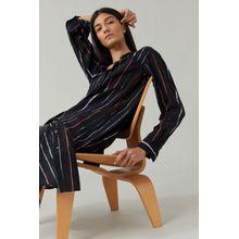 CLOSED Hemdblusenkleid aus Viskose & Seide black