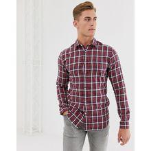 Selected Homme - Kariertes Hemd in Rot - Rot