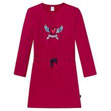 Schiesser Mädchen Nachthemd Sleepshirt 1/1 158909, Gr. 152, Rot (dunkelrot 507)