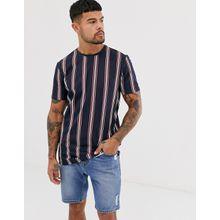 Only & Sons - Marineblaues, gestreiftes T-Shirt - Navy