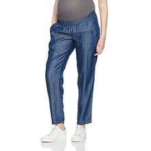 MAMALICIOUS Damen Umstandshose Mllyon Denim Pant A, Blau (Medium Blue Denim), 40 (Herstellergröße: L)