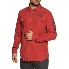Camp David Hemd Custom Fit in rot für Herren