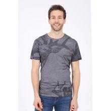 Krüger- T-Shirt Hirschgeweih (grau), grau