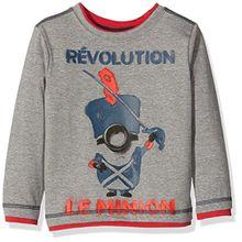Universal Pictures Jungen T-Shirt Minions, Grau-Grau, 8 Jahre