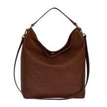 Silvio Tossi Lederhand- und Schultertasche mit Spezialschutzschicht Handtaschen dunkelbraun Damen