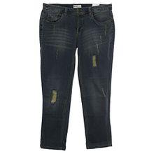 sheego Jeans Die Schmale Hose Pants Damen Stretch Used Look Plusgröße Kurzgröße, Farbe:jeansblau;Damengrößen:25