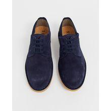 Selected Homme - Derby-Schuhe aus Wildleder - Navy