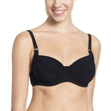 Rosa Faia Damen Bügel Bikinioberteil Twiggy, Einfarbig, Gr. 36G (Herstellergröße: 36), Schwarz