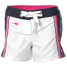 KangaROOS Damen Boardshorts Badeshorts Bade Shorts Weiß-Marine 36