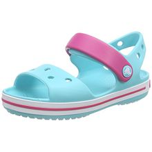 crocs Crocband Sandal Kids, Unisex - Kinder Sandalen, Blau (Pool/Candy Pink), 32/33 EU