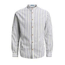 JACK & JONES Klassisches Langarmhemd Herren White