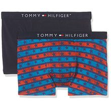 Tommy Hilfiger Jungen Boxershorts 2p Trunk Stars & Stripes, 2er Pack, Mehrfarbig (Poppy Red/Navy Blazer 638), Large (Herstellergröße: 10-1)