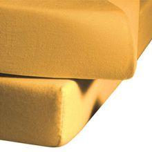 fleuresse Spannlaken colours 9100-2349, Mako Satin in 160x200 cm, Farbe Goldgelb, 100% Baumwolle, mit praktischem Rundumgummi
