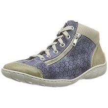 Rieker M3735 Women Hi-Top, Damen Hohe Sneakers, Blau (marble/jeans/champignon/60), 40 EU