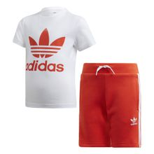 ADIDAS ORIGINALS Zweiteiler 'Short Tee Set rot / weiß