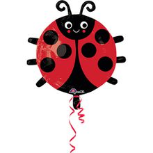 Folienballon Marienkäfer schwarz/rot