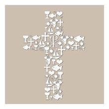 Servietten Kreuz, 3lagig, creme, 33x33cm, 20er Pack
