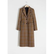 Hourglass Wool Blend Coat - Yellow